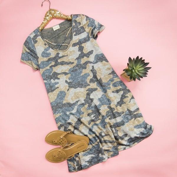 Faded Camo Cross Dress