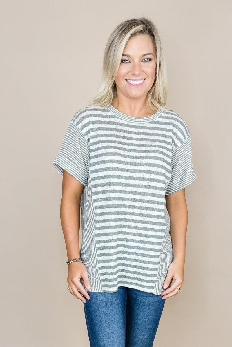 Slimming Stripes Top