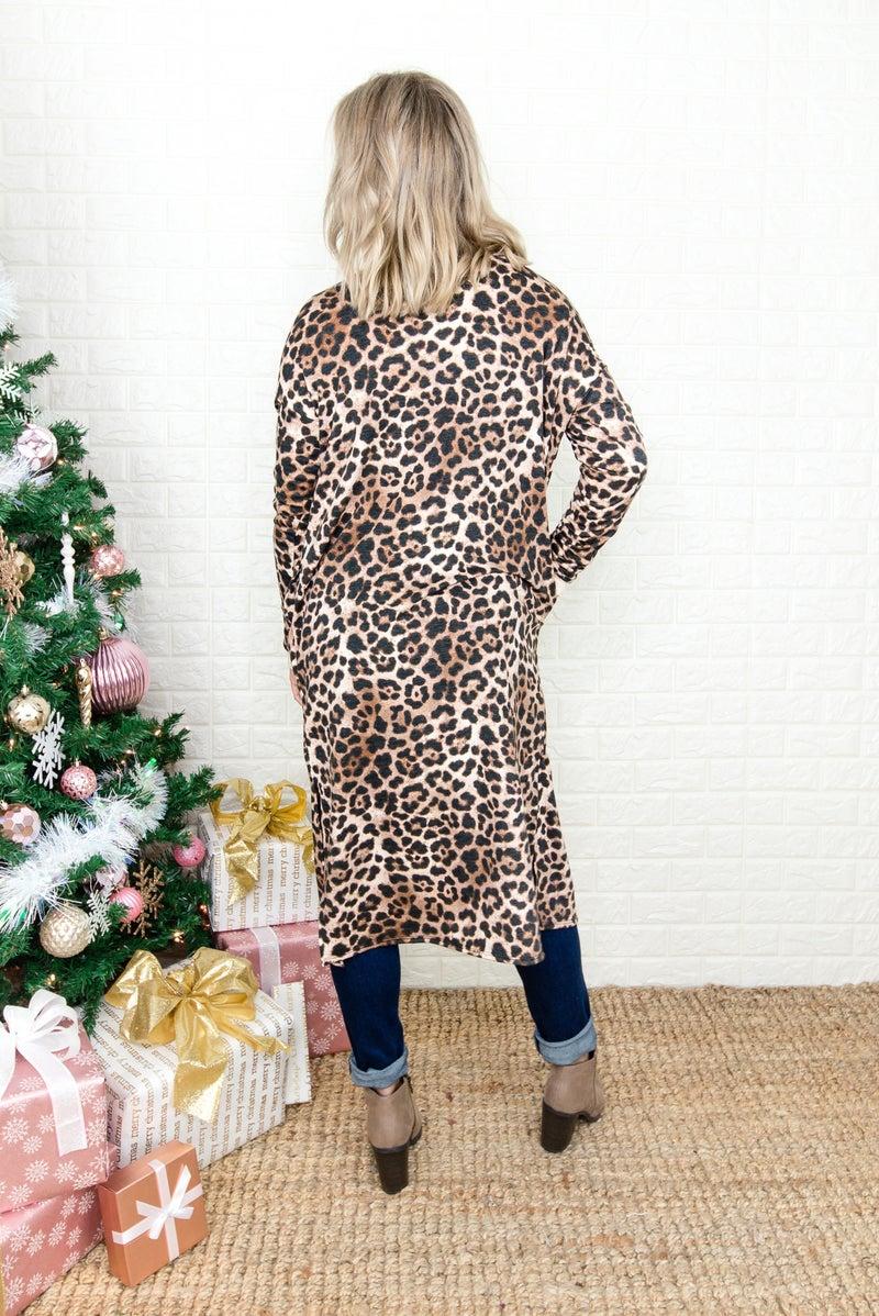 True Leopard Duster Cardigan