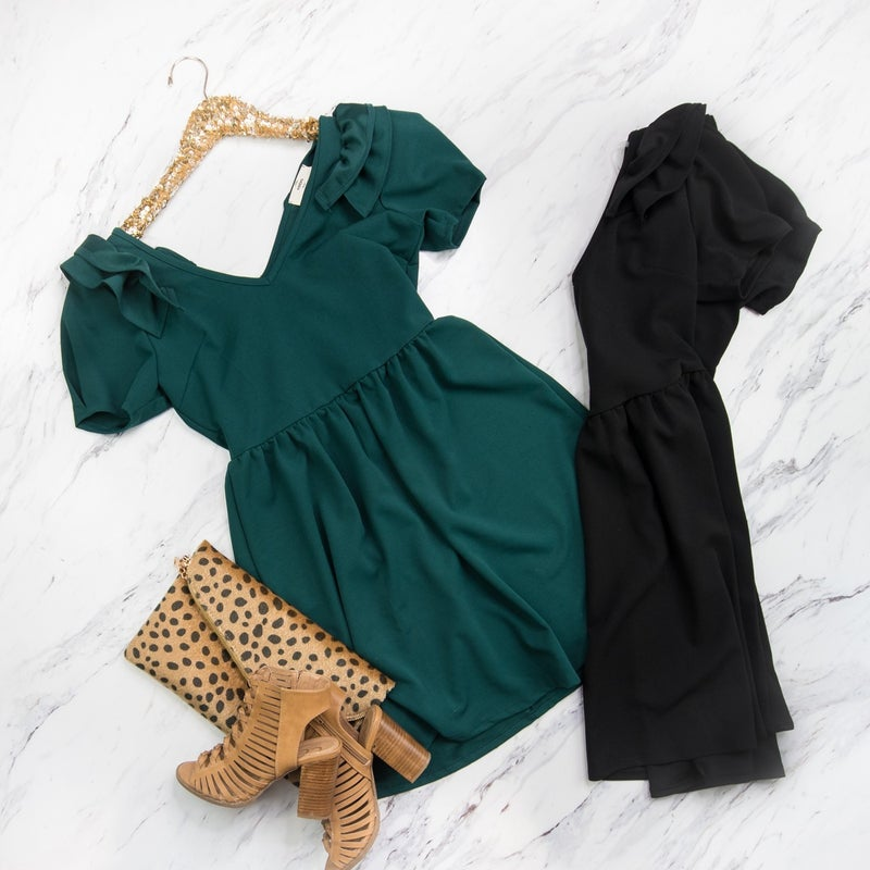 Babydoll Ruffle Sleeve Dress *ALL SALES FINAL*