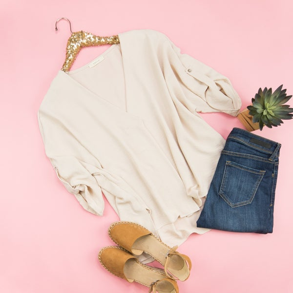 Fancy Oatmeal Blouse