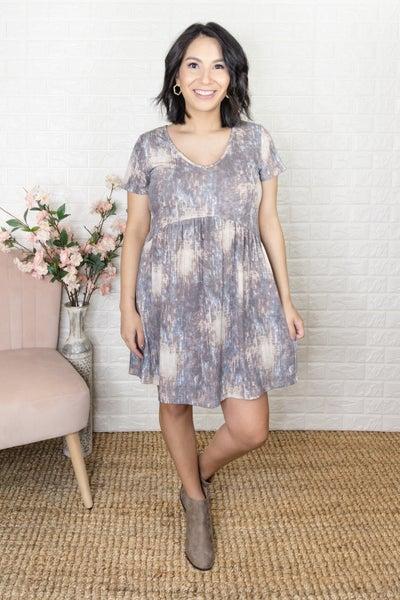 Pretty Patterned Peplum Dress