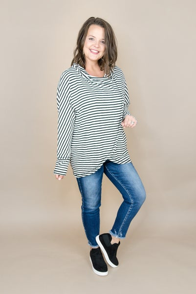 Layover Striped Top *all sales final*