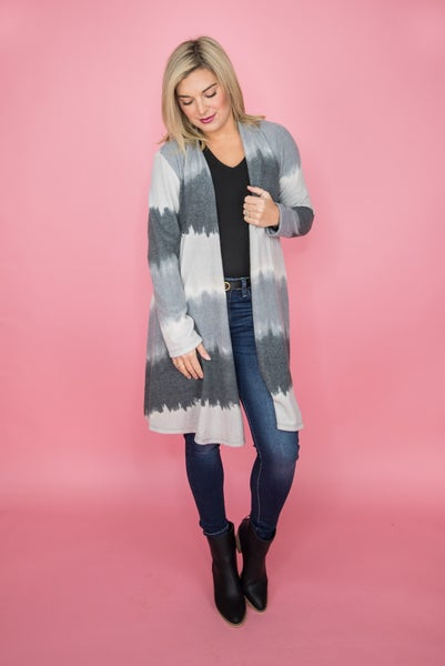 Gray Ombre Cardigan *all sales final*
