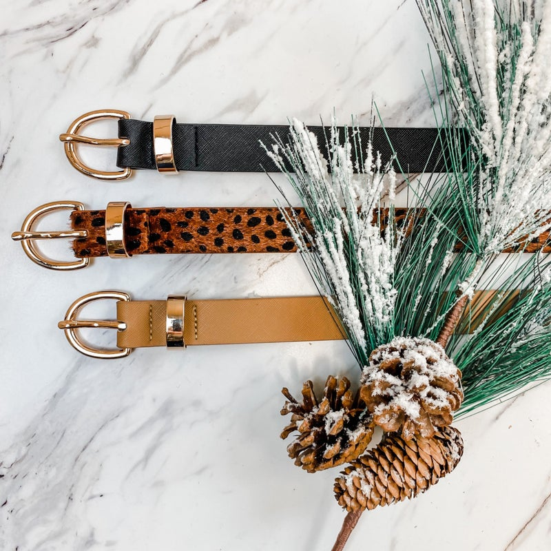 Cyber Monday // Buckle Set of Belts *all sales final*
