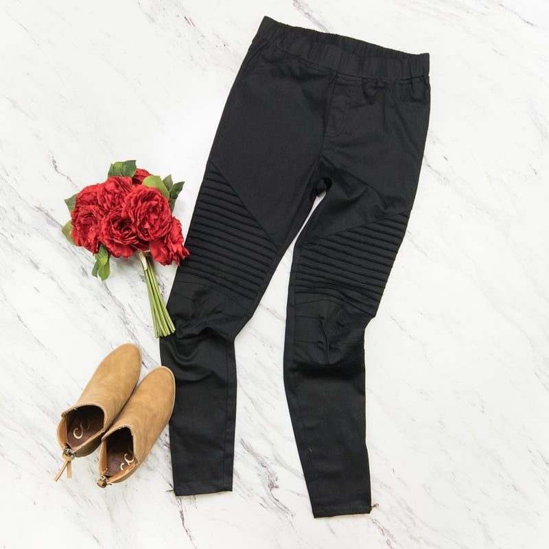Daring Black Moto Jeggings *all sales final*