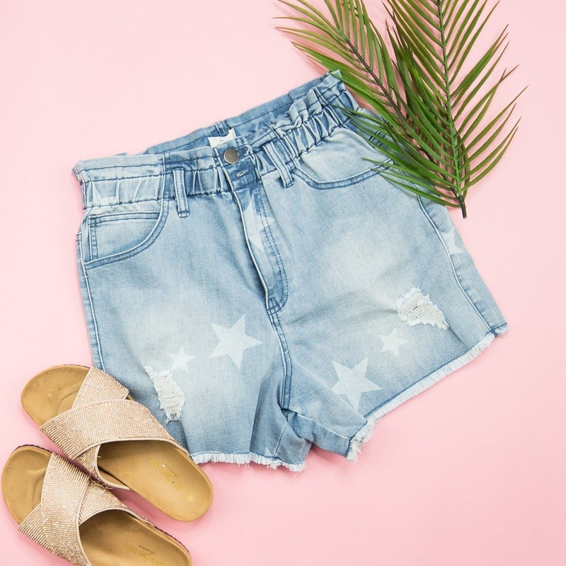 Star Denim Shorts