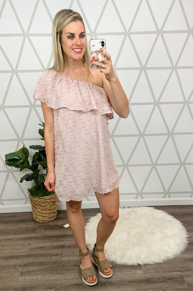Dusty Mauve One Shoulder Dress