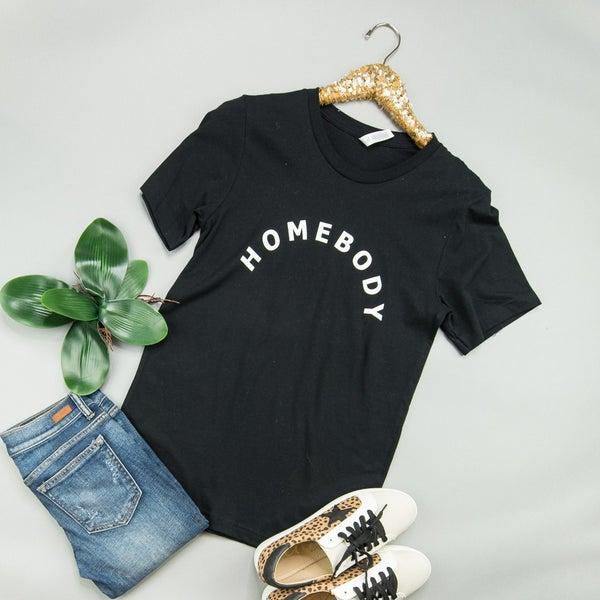 Homebody Black Tee *all sales final*