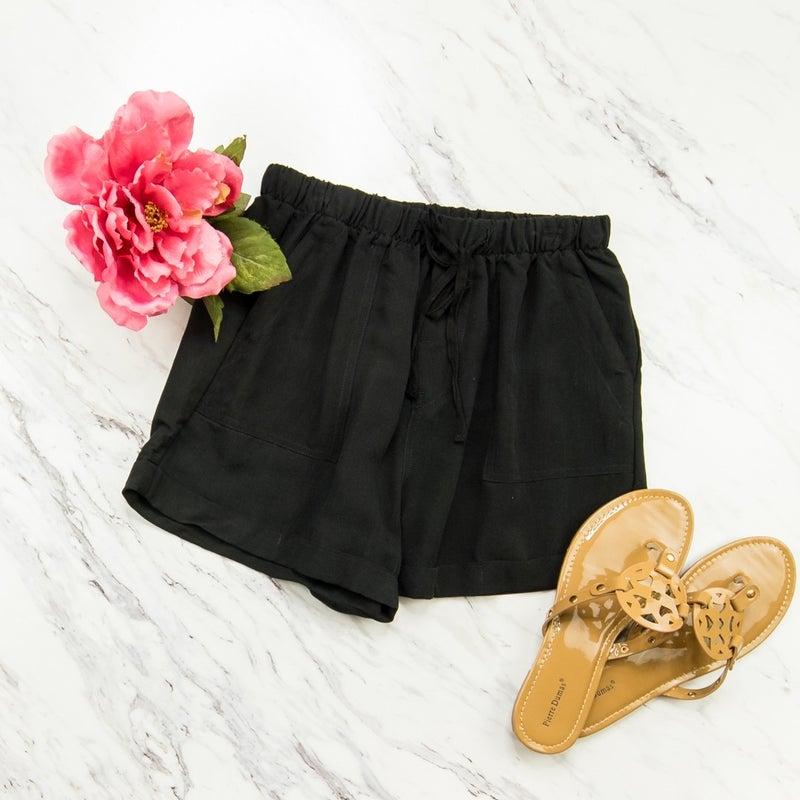 Easy Going Black Shorts