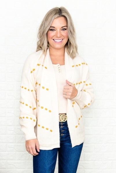 Dotted Lines Cardigan *all sales final*