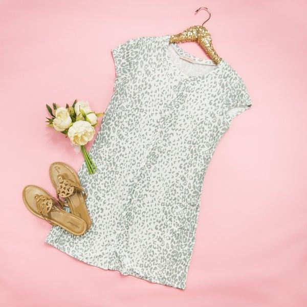 Leopard Button Dress