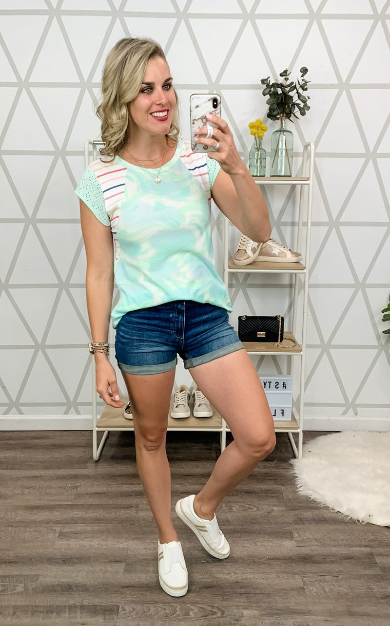 Marbled Mint Top *all sales final*
