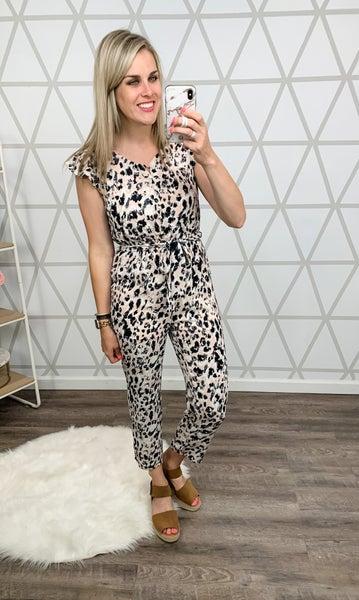 Leopard Spice Jumpsuit