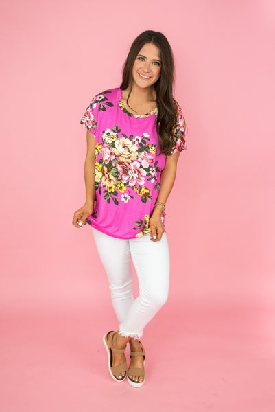 Vibrant Floral Tee