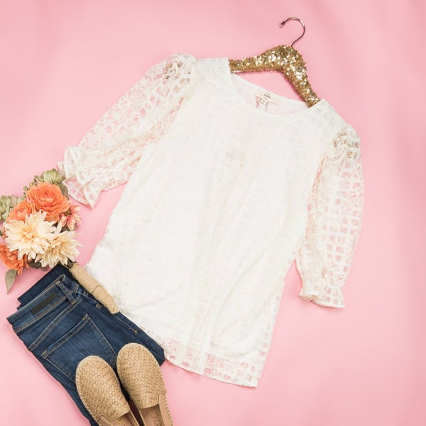 Elegant Lace Sunday Blouse