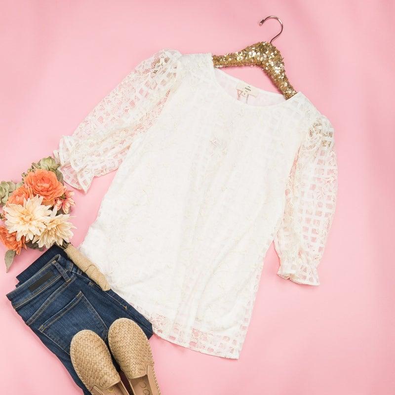 Elegant Lace Sunday Blouse