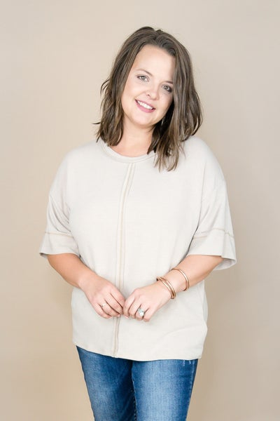 One & Only Taupe Tee