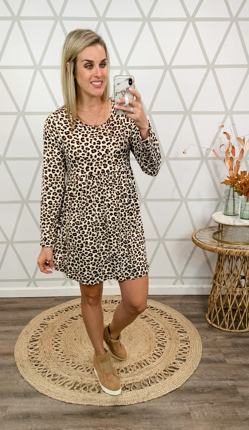 Leopard Peplum Dress
