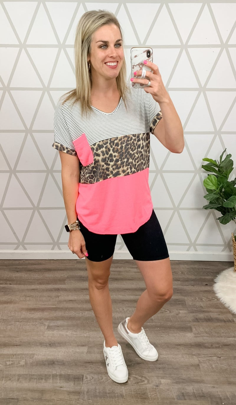 Neon Leopard Top *all sales final*