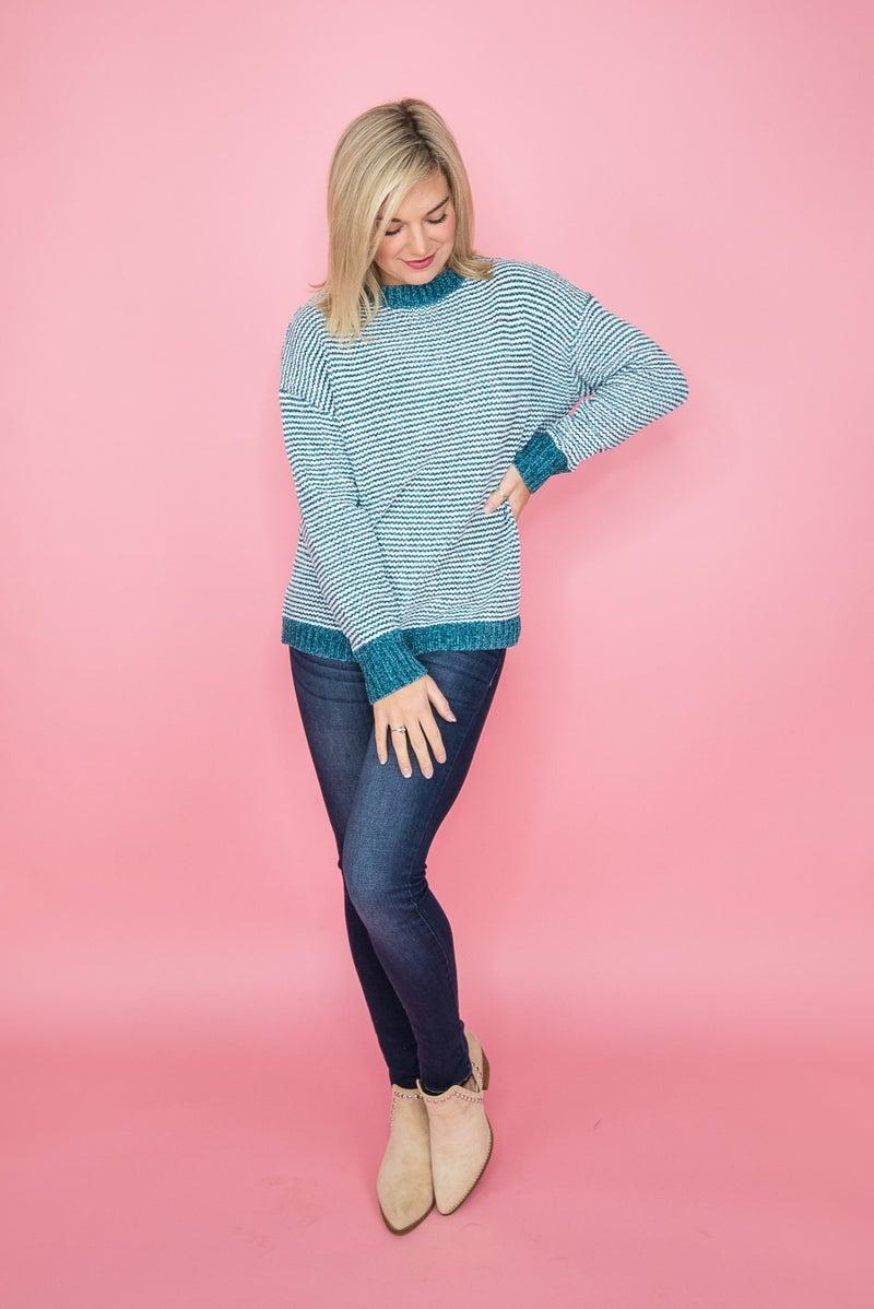 Winter Teal Sweater