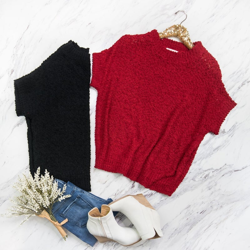 Popcorn Sweater Tee // ALL SALES FINAL