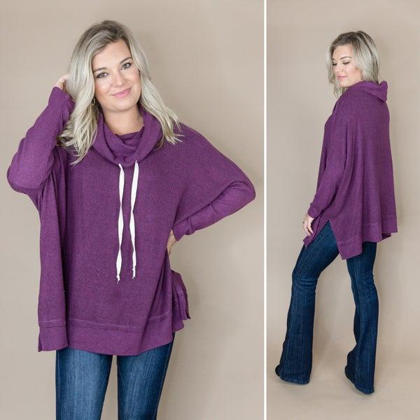 Purple Plush Poncho