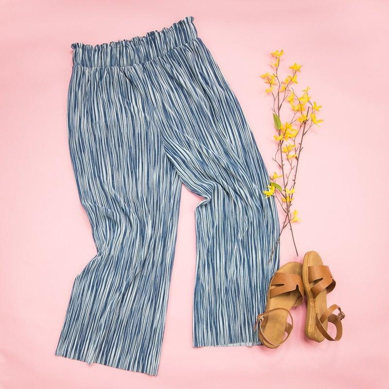 Slinky Navy Pants