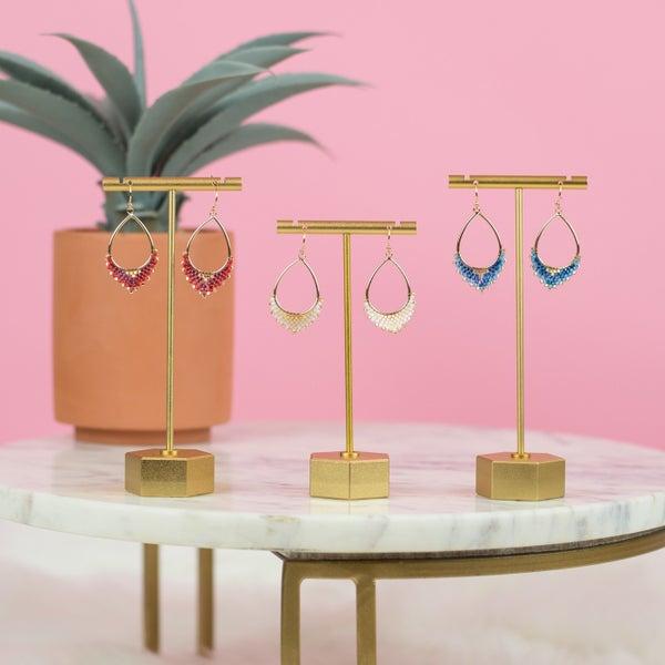 Fringe Bead Earrings *ALL SALES FINAL