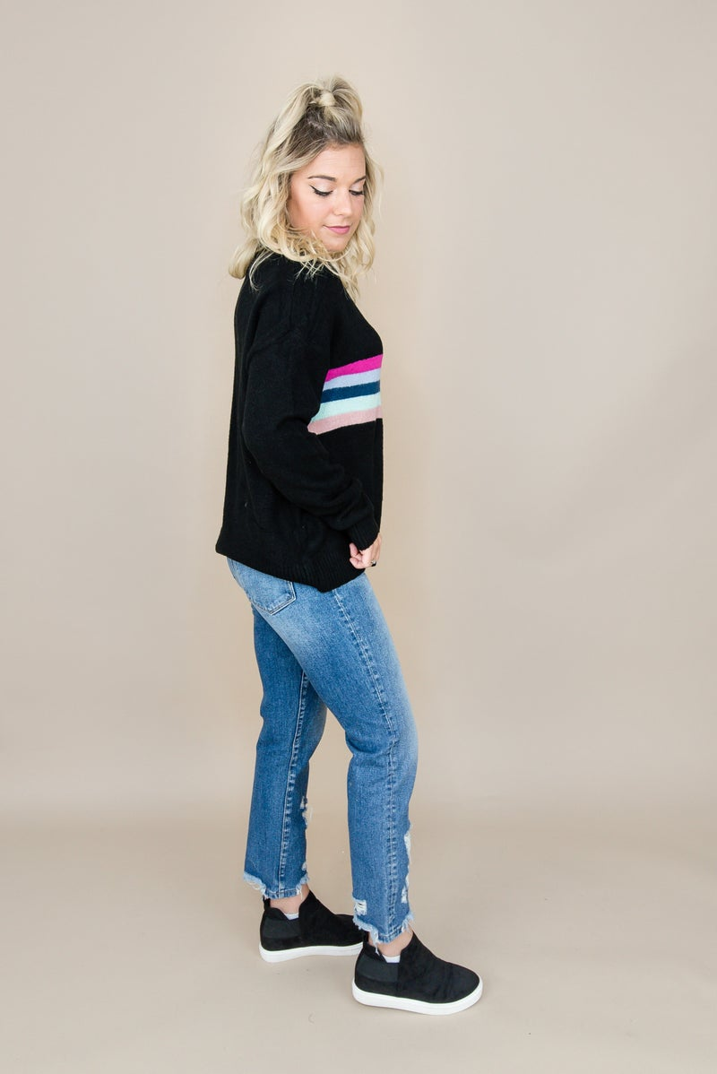 Bright Stripe Sweater
