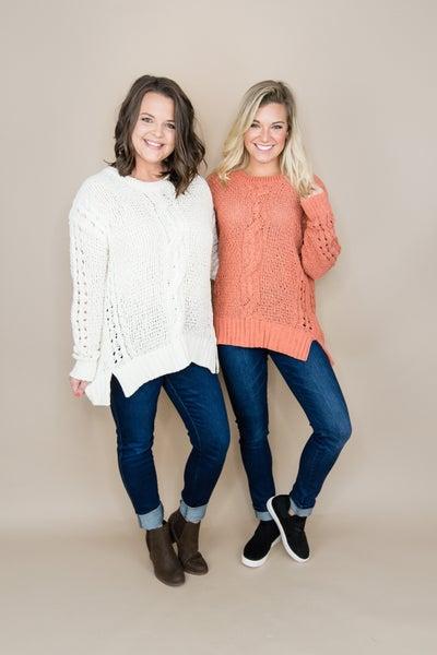 Braided Fall Sweater