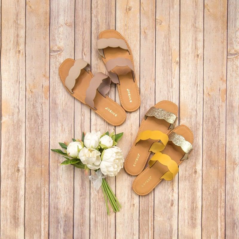 Scallop Detail Sandal *ALL SALES FINAL*