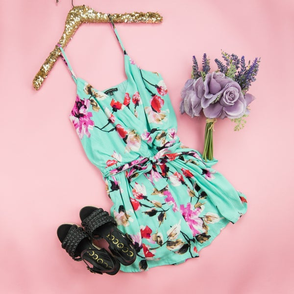 Vacation Mint Romper