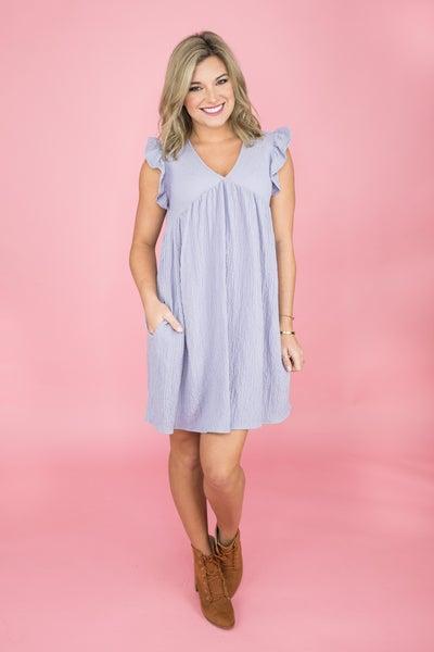 Lavender Flutter Dress