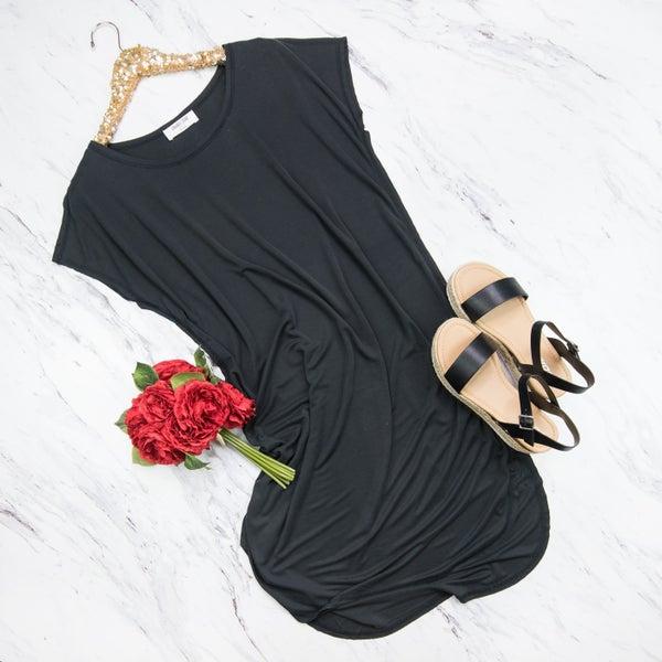 Casual Black Dress *all sales final*