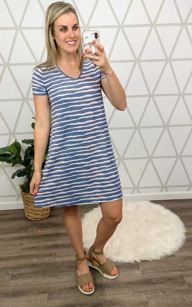 Summer Waves Dress *ALL SALES FINAL*