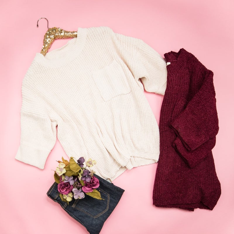 Slouchy Chenille Sweater *ALL SALES FINAL*