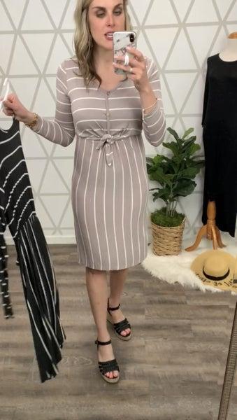 Tied Stripe Dress *ALL SALES FINAL*