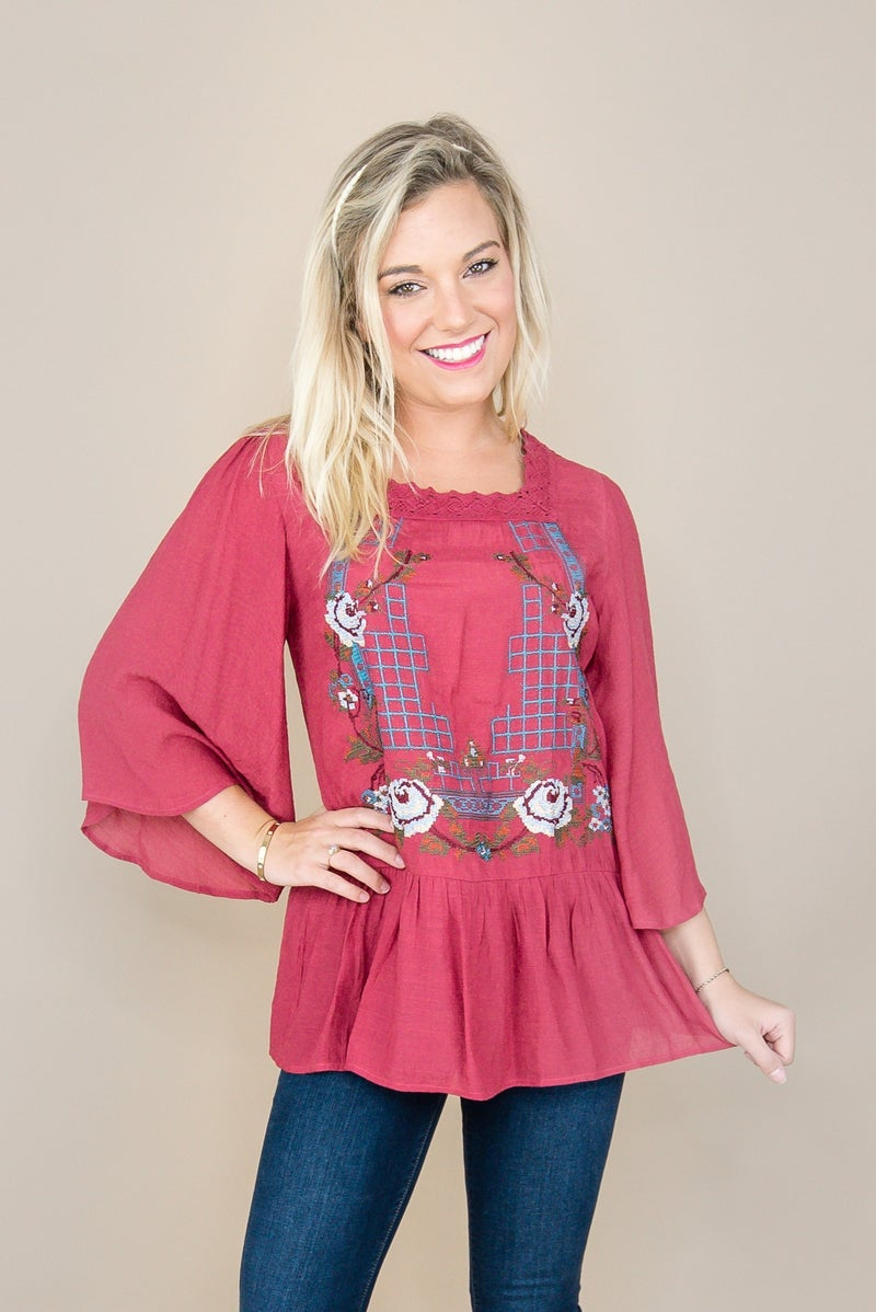 Embroidered Blouse *all sales final*