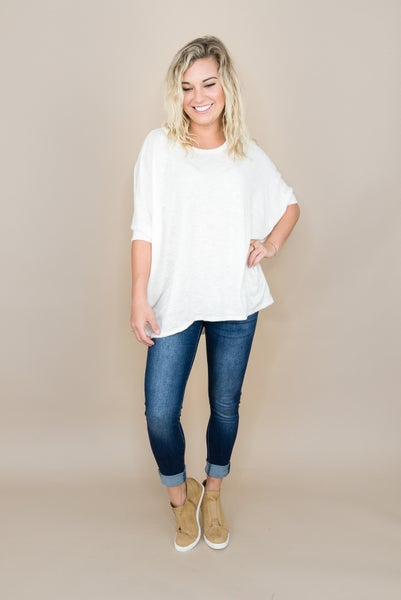 Oversized Oatmeal Top