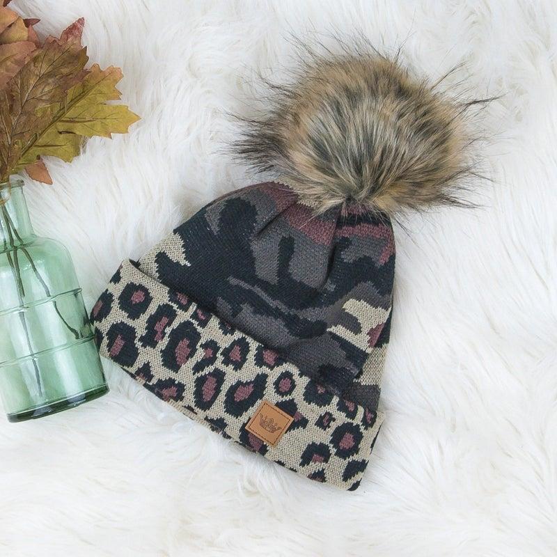 Camo Leopard Beanie
