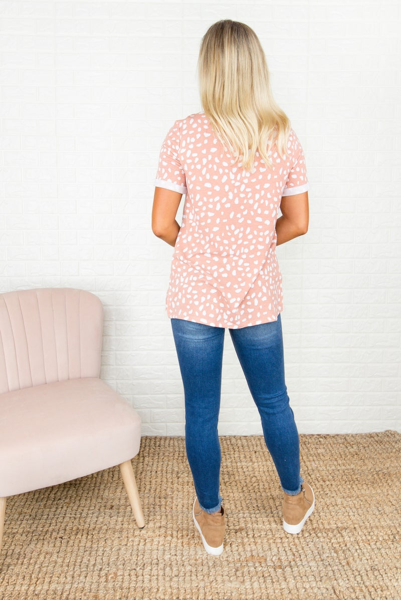 Peachy Rust Spotty Tee