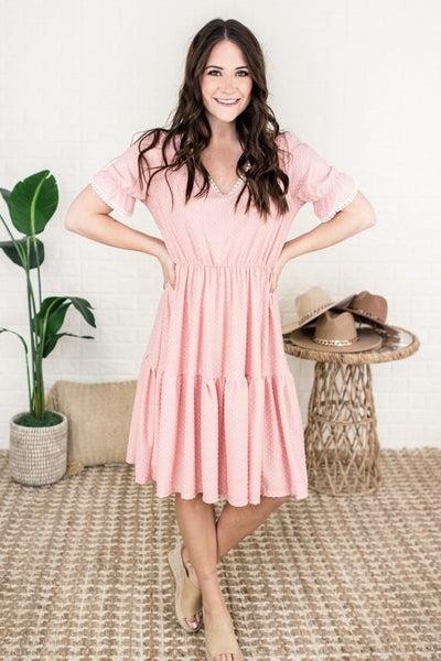 Swish Dot Rose Dress