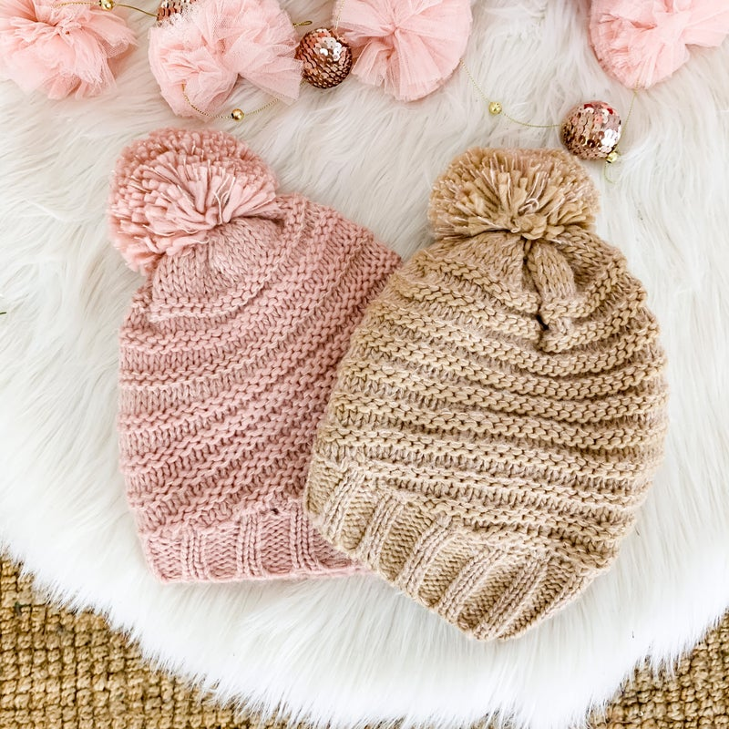 CYBER MONDAY // Cable Knit Pom Beanie *all sales final* (Repost)