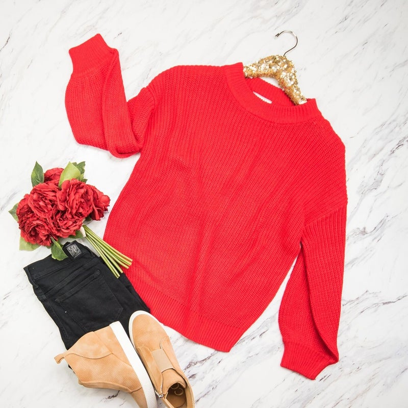 Holiday Red Sweater *all sales final*
