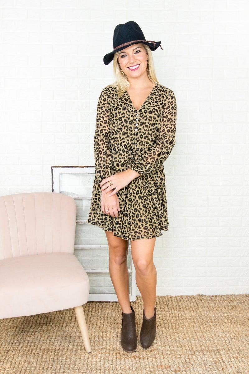 Entro Leopard Dress