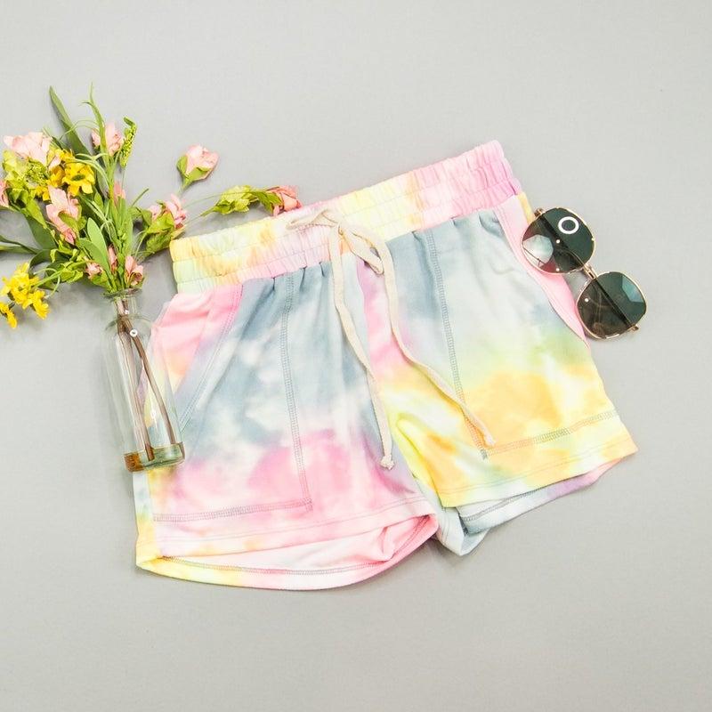 Cozy Tie Dye Lounge Shorts