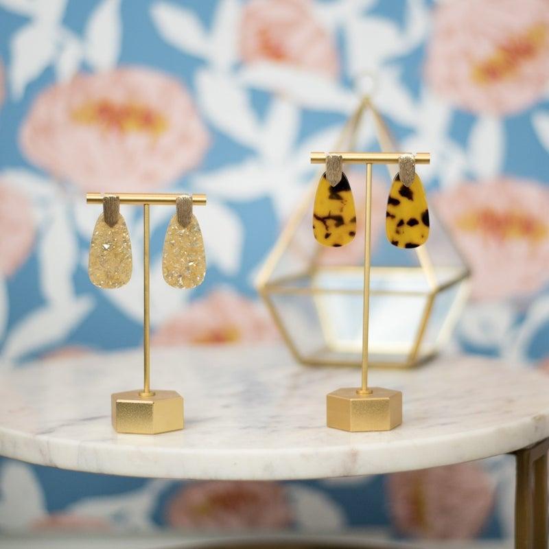 Acrylic Marbled Earrings