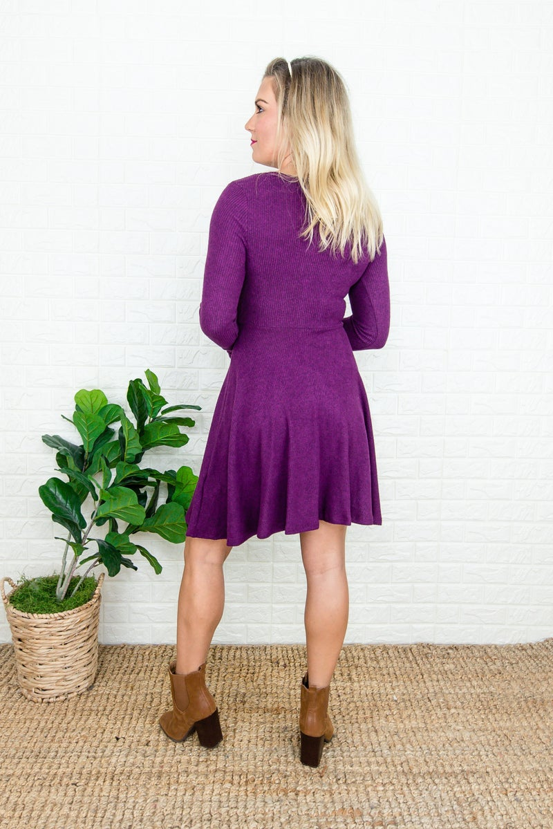 Simple Plum Dress
