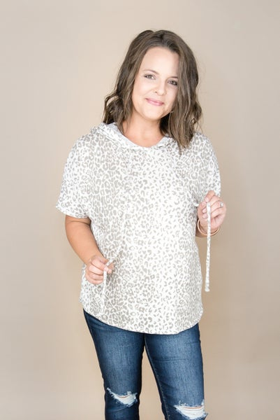 Taupe Leopard Top  *all sales final*